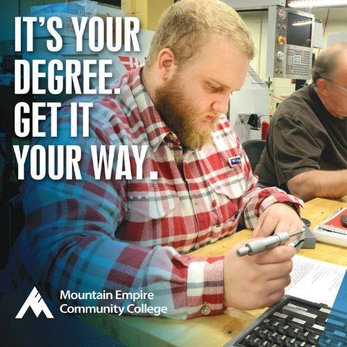 Mountain Empire Community College – Spring Enrollment (Post Card)